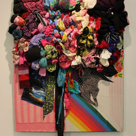 """Bright Matter,"" 2013, a wall hanging piece by Shinique Smith"