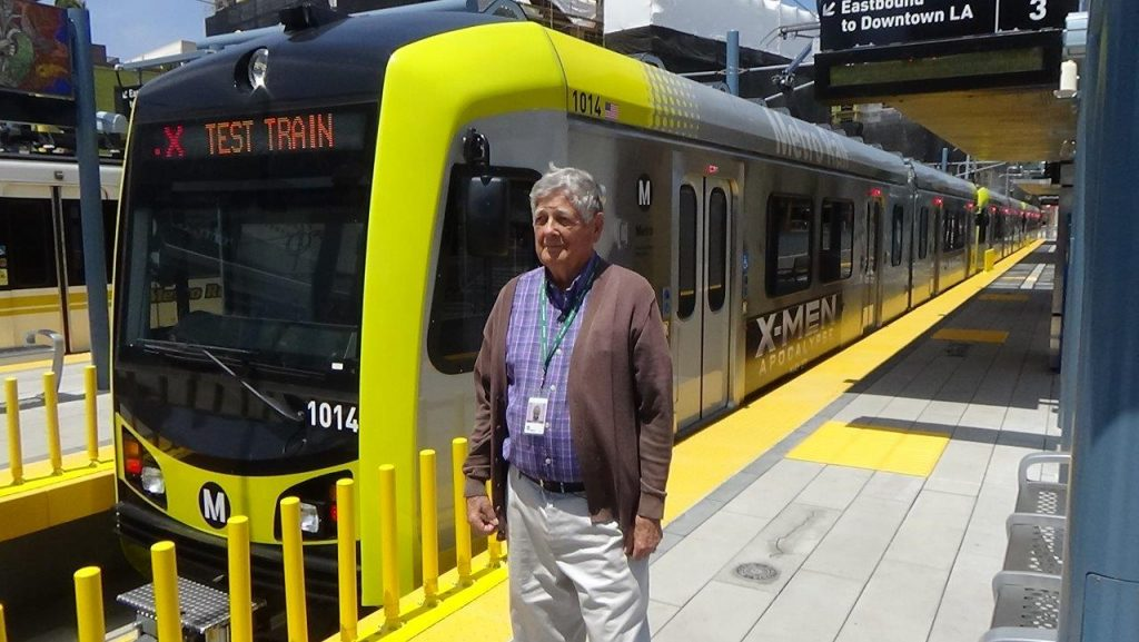Alan Weeks on opening day of the Expo Line extension to Santa Monica May 20, 2016