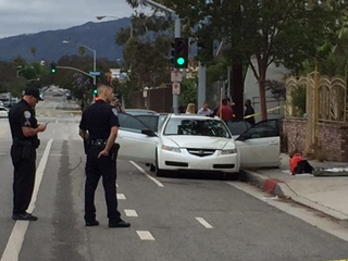 The car stopped by police Sunday had possible explosives and weapons. Photo: Jennifer Wolfe