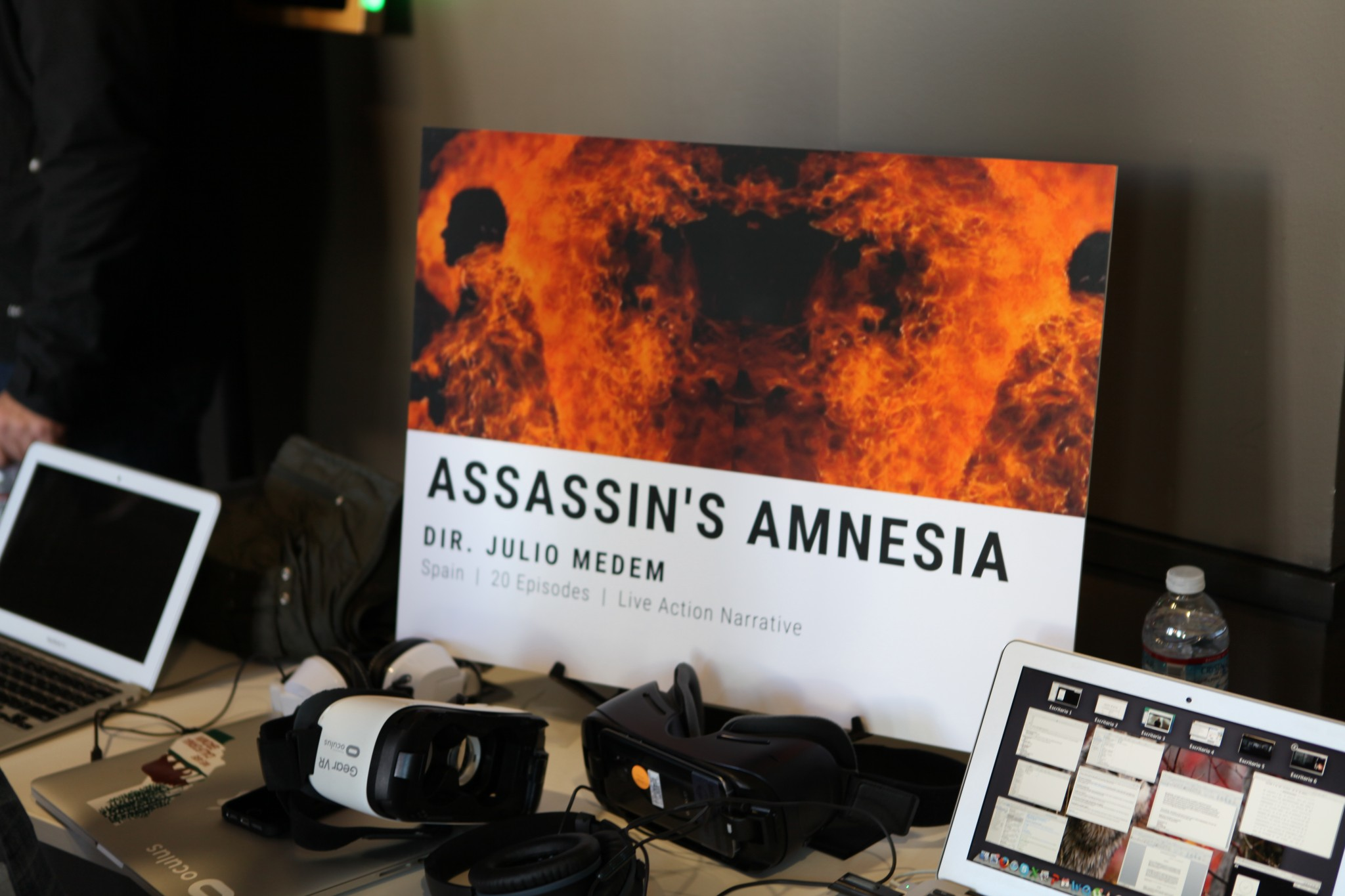 The Assassin's Amnesia demo booth.