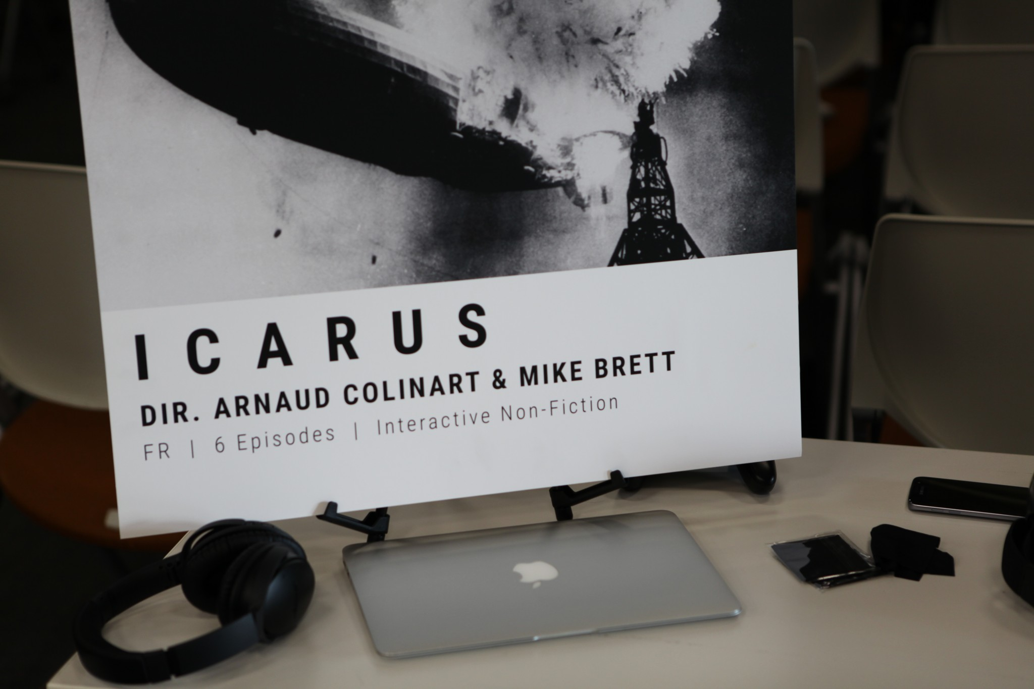 The Icarus demo booth.
