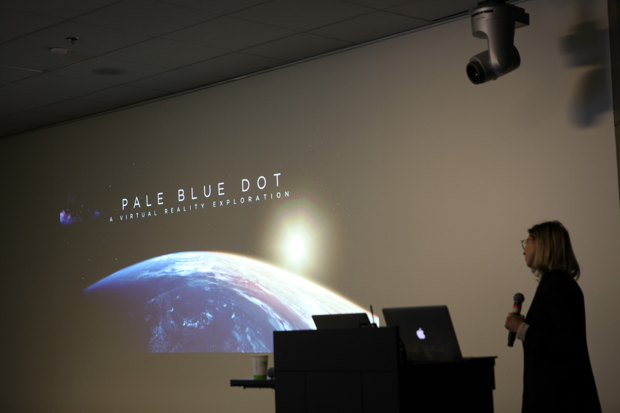 Creator Eliza McNitt introduces Pale Blue Dot.