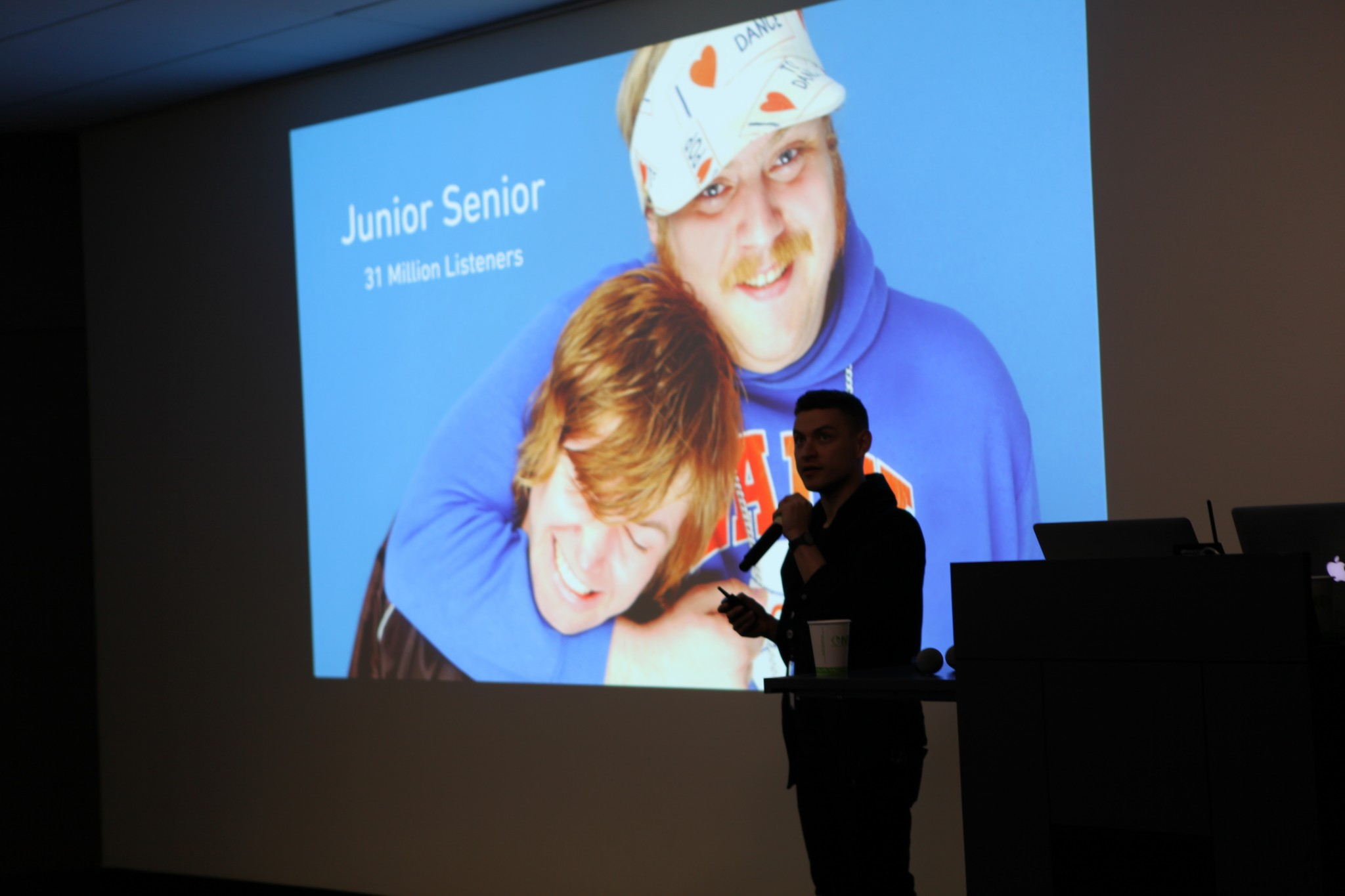 Brower introduces the Junior Senior collaboration.