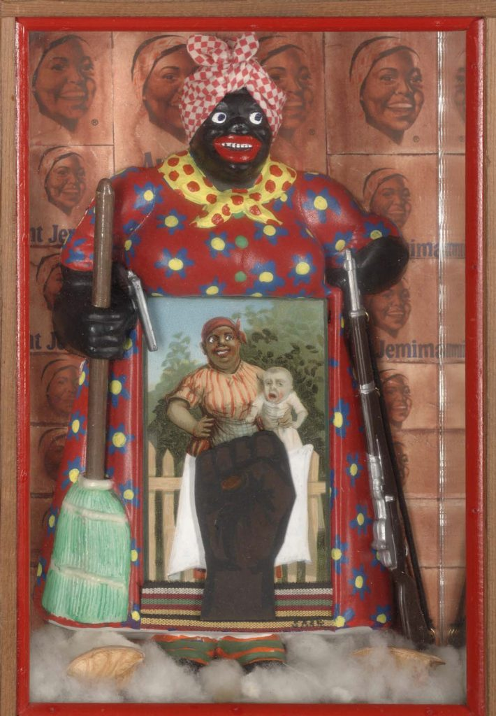 the liberation of aunt jemima Betye saar (american, born 1926) liberation of aunt jemima: cocktail, 1973 mixed media assemblage, 12 × 18 in (305 × 457 cm) brooklyn museum,.