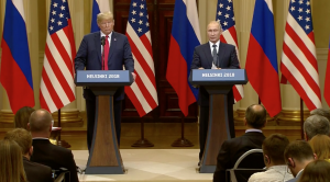 President Trump and Russian President Vladimir Putin hold a joint news conference